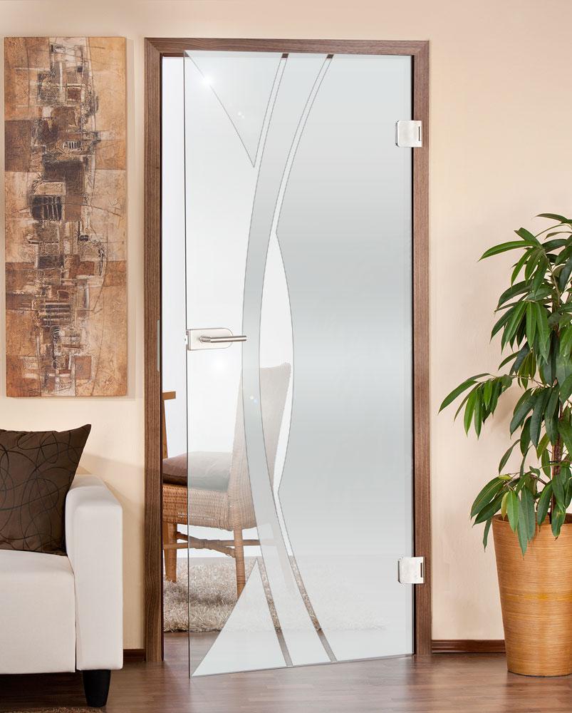 Glastüren gibt es in unterschiedlichen Ausführungen