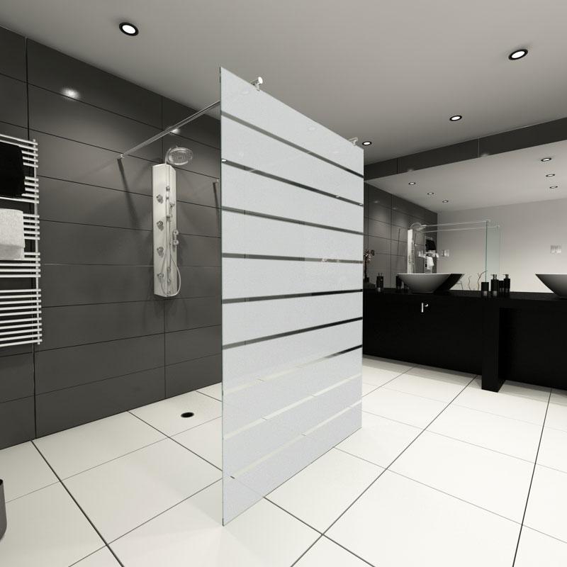 Gestaltung der Duschabtrennung Glas